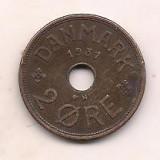 No(1) moneda-DANEMARCA -2 Ore 1931