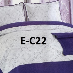 Cuvertura de pat bumbac brodat EC22 - Cuvertura pat