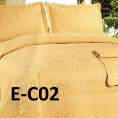 Cuvertura de pat bumbac brodat EC02 - Cuvertura pat