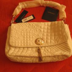 Geanta Gianni Versace-Vanitas Medea, 100% originala - Geanta Dama Versace, Culoare: Alb, Marime: Medie, Geanta de umar, Piele