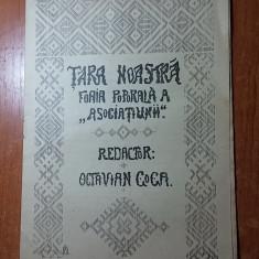 Revista tara noastra 4 februarie 1907 -redactor octavian goga