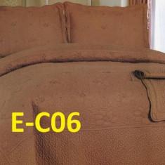 Cuvertura de pat bumbac brodat EC06 - Cuvertura pat