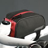 Port bagaj spatiu depozitare borseta rezistenta  pentru bicicleta rosu cu negru