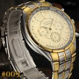 Ceas bărbați auriu-LUX - Ceas barbatesc, Elegant, Quartz, Placat cu aur, Inox, Analog