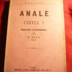 Tacitus - Anale - Cartea I -Ed. 1928 trad. G.Nica - Carte veche