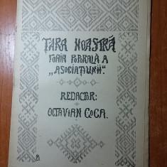 Revista tara noastra 25 martie 1907 -redactor octavian goga