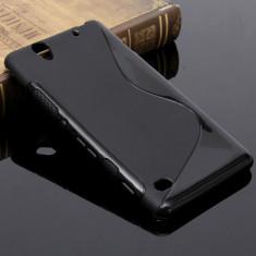Husa SONY XPERIA C4 E5303 E5353 TPU S-LINE Black - Husa Telefon Sony, Negru, Gel TPU, Fara snur, Carcasa