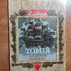 eticheta veche cognac tomis anul 1974