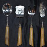 SET TACAMURI - pt. BOMBOANE - 4 PIESE - Lingura, Furculita, Cutit - OS - Vintage