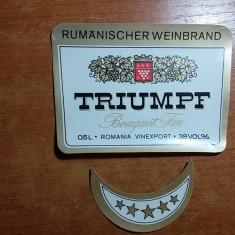eticheta veche triumpf anii'70