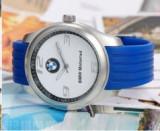 Ceas model BMW motorrad curea silicon albastru deschis cutie simpla cadou, Lux - sport, Quartz, Inox