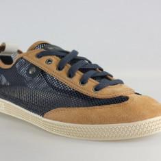 Adidasi originali Le Coq Sportif-tenisi barbati-piele naturala-plasa-in cutie-44, Culoare: Albastru, Textil