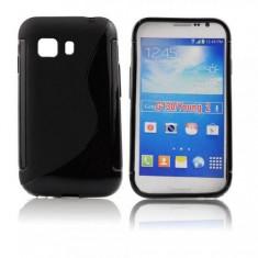 Husa Samsung Galaxy Young 2 G130 TPU S-LINE Black - Husa Telefon Samsung, Transparent, Gel TPU, Fara snur, Carcasa