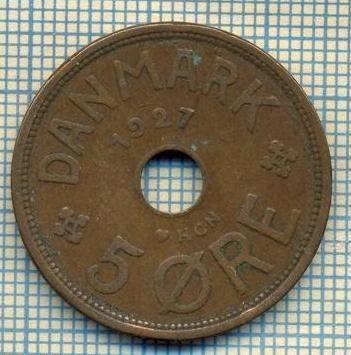 6101 MONEDA - DANEMARCA (DANMARK) - 5 ORE - ANUL 1927 -starea care se vede foto