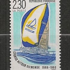 Franta.1990 Inconjurul lumii cu barca cu vele SF.658
