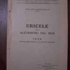 Uricele lui Alexandru cel Bun - Adelaida Goga-Bucur (1932)