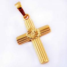 Pandantiv 9k GOLD FILLED CRUCE - Pandantiv placate cu aur