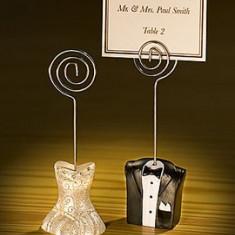 Suport card / numar masa nunta model mire mireasa