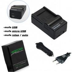 PATONA | Incarcator 4in1 + Acumulator PREMIUM pt GoPro HERO 3 AHDBT201 AHDBT301 - Baterie Camera Video