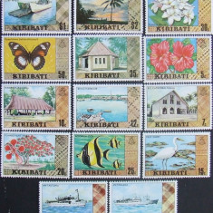 KIRIBATI - FLUTURI, VAPOARE, FLORI, 14 VALORI NEOBLITERATE - E1463