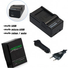 PATONA Premium | Incarcator 4in1 + Acumulator pt GoPro HD Hero 3 3+ AHDBT302