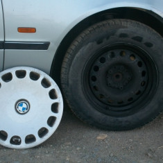 Set jante tabla BMW E39 ( Seria 5 ) cu tot cu cauciuc si capac 205, 65 R15 - Dezmembrari BMW