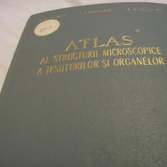 Atlas al struct. microsc. a tesuturilor si organelor 1961, tiraj 2145