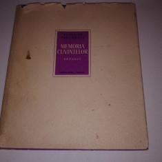VERONICA PORUMBACU - MEMORIA CUVINTELOR ~ versuri ~ - Carte poezie