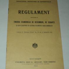 Regulament examen desemnuri scoarte tesaturi cu motive vechi romanesti - 1912 - Carte Editie princeps
