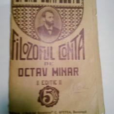 FILOZOFUL CONTA - OPERE COMPLETE - de Octav Minar - Filosofie