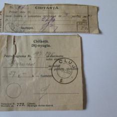 RARITATI! CHITANTE PENTRU O CONVORBIRE TELEFONICA SI O TELEGRAMA DIN 1922, Documente