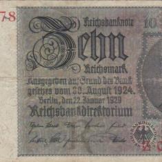 GERMANIA 10 marci 1929 VF!!! - bancnota europa