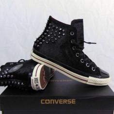 Converse Velvet Studs All Star Chuck Taylor Hi-Top, 39, 40, Negru, Textil, Chuck Taylor