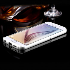 Bumper Samsung Galaxy S6 Edge G925F Aluminiu Silver, Gri