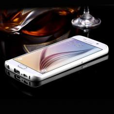 Bumper Samsung Galaxy S6 Edge G925F Aluminiu Silver - Bumper Telefon, Gri