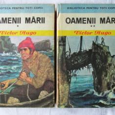OAMENII MARII- 2 vol. Victor Hugo, 1975. Ilustratii de Romeo Voinescu - Carte de aventura