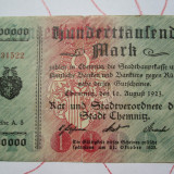 100000 mark 1923 Germania , Notgeld Chemnitz marci