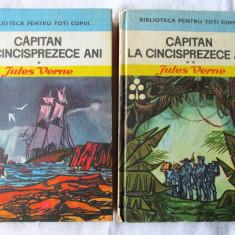 CAPITAN LA CINCISPREZECE ANI - 2 vol. Ed.III, Jules Verne, 1970. Cu ilustratii - Carte de aventura