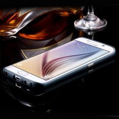 Bumper Samsung Galaxy S6 Edge G925F Aluminiu Black - Bumper Telefon, Negru