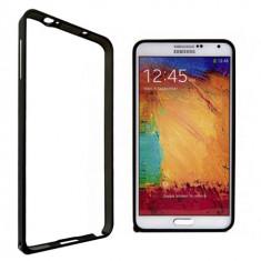 Bumper Samsung Galaxy Note 3 N9000 Aluminiu Black - Bumper Telefon, Negru