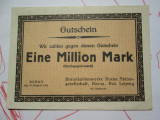 1 Eine million mark 1923 Germania , un milion marci germane notgeld Leipzig