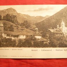 Ilustrata Manastirea Turnu - Calimanesti, Ed. E.Fischer - Carte Postala Oltenia pana la 1904, Necirculata, Printata