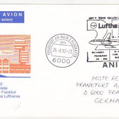 Bnk fil Aerofilatelie - carti postale circulate - Luftpost 1992
