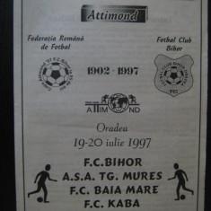 Program meci ( 19-20 iulie 1997)FC Bihor, ASA Tg.Mures, FC Kaba, FC Baia Mare
