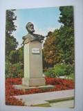Carte postala / Timisoara, statuia lui Vicentiu Babes (anii 80), Necirculata, Fotografie, Romania de la 1950