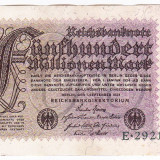 Germania bancnota 500.000.000 Mark Marci 1 septembrie 1923