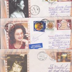 Bnk fil Lot 8 intreguri postale - Actori romani celebrii - circulate