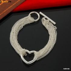 Bratara superba argint 925 + cutie cadou; 19.5 cm lungime - Bratara argint