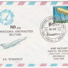 Bnk fil Aerofilatelie - Plic ocazional - 80 ani de aeronautica militara