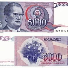 IUGOSLAVIA 5.000 dinara 1985 UNC!!! - bancnota europa